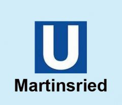 U-Bahn Logo mit Collage Martinsried