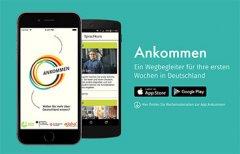 Ankommen App Key visual 7104