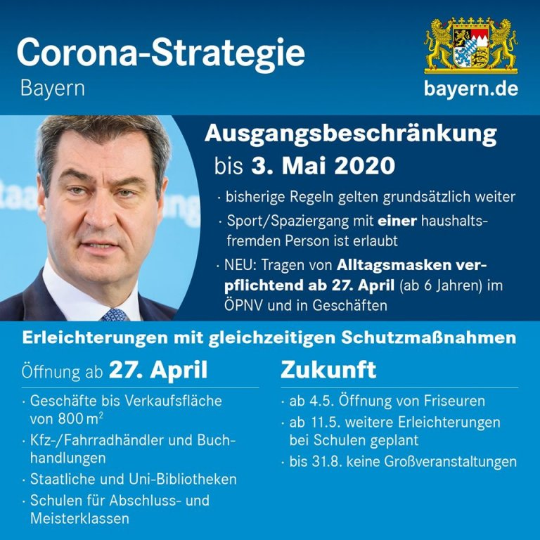 Bayern Coronastrategie 22 April